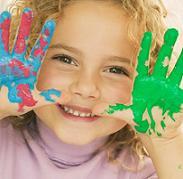 Рисуем пальчиковыми красками с малышом