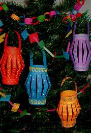 Как сделать фонарик на Новогоднюю ёлку