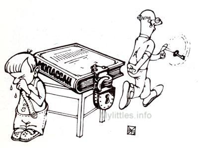 Карикатура про воспитание
