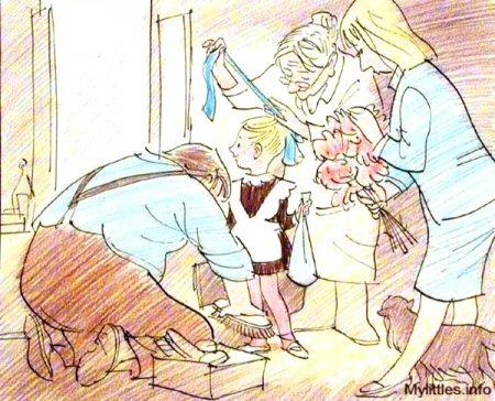 Карикатура про первоклашку