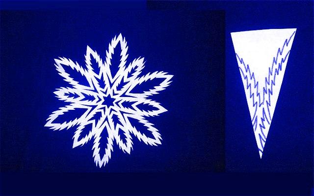 Вырезать снежинку из бумаги
