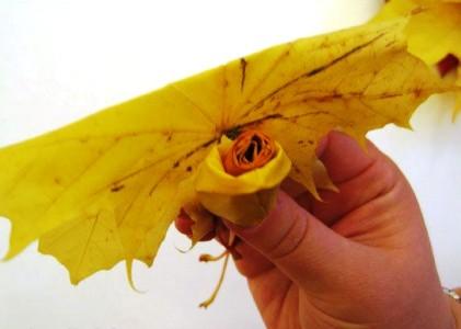 Пошаговая инструкция как сделать розу из кленовых листьев